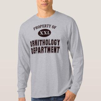 Camiseta Propiedad del departamento de la ornitología