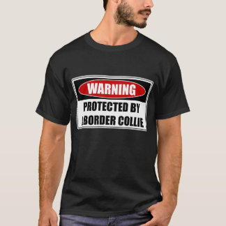 Camiseta Protegido por un border collie