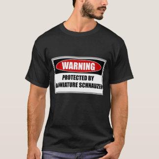 Camiseta Protegido por un Schnauzer miniatura