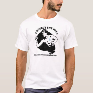 Camiseta Proteja al cáncer de pecho masculino de Pecs