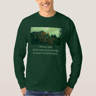 Camiseta proverbio del lakota del hombre y de la naturaleza