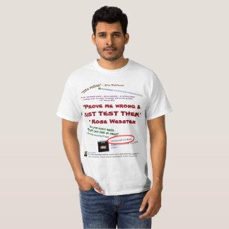Camiseta Pruébeme que incorrecto apenas pruébelos por