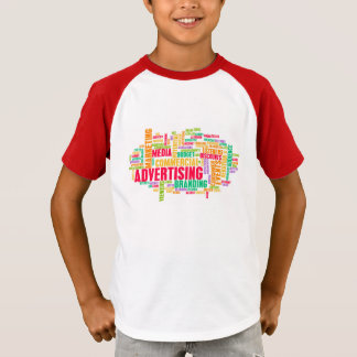 Camiseta Publicidad en línea y en método tradicional de los