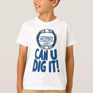 Camiseta Puede el empuje de U él Lt azul Blue del voleibol