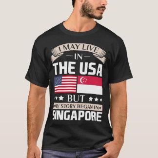 Camiseta Puede vivir en historia de los E.E.U.U. comenzó en
