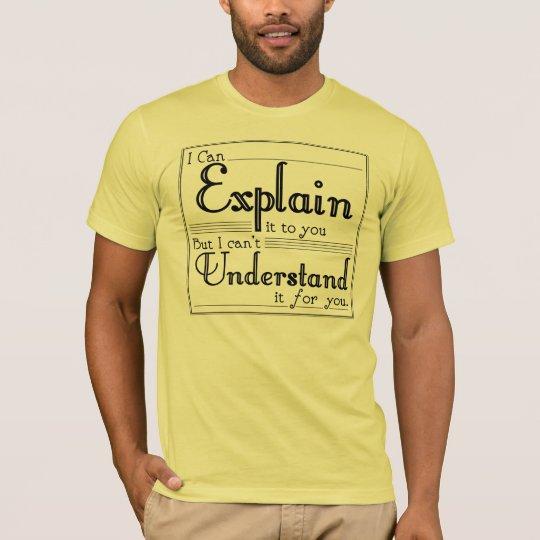 Camiseta Puedo explicarlo