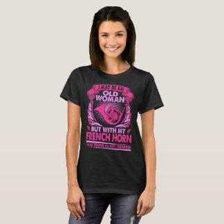 Camiseta Puedo mujer mayor con los jóvenes de la trompa