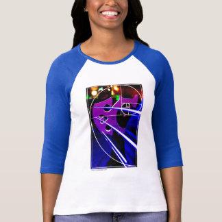 Camiseta Puente del violoncelo con el espiral de Fibonacci