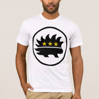 Camiseta Puerco espín libertario de la estrella del oro del