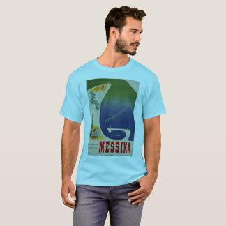 Camiseta Puerto de Messina de anuncio italiano del viaje