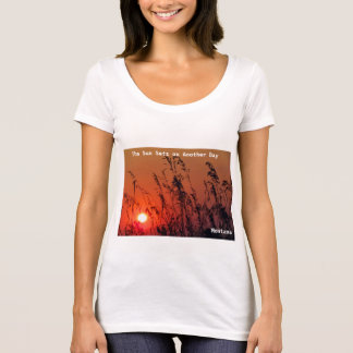 Camiseta Puesta del sol anaranjada de Montana de la