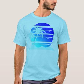 Camiseta Puesta del sol azul