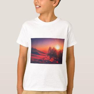 Camiseta Puesta del sol de la tarde Nevado