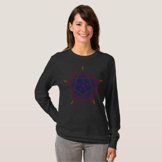 Camiseta Puesta del sol decorativa del pentáculo