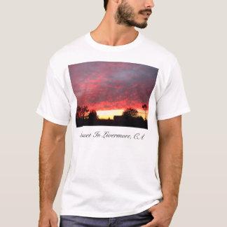 Camiseta Puesta del sol, puesta del sol en Livermore, CA