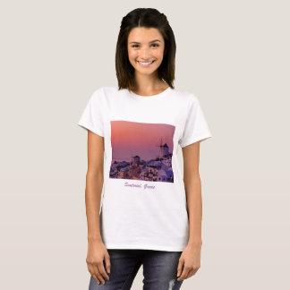 Camiseta - puesta del sol sobre Santorini, Grecia