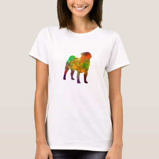 Camiseta Pug 01 in watercolor
