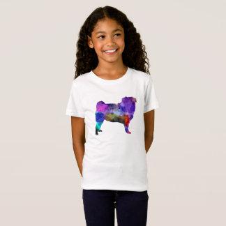 Camiseta Pug 02 in watercolor