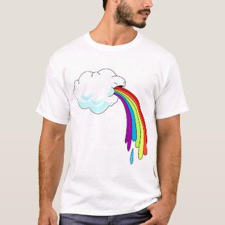 Camiseta Puking del arco iris de la nube