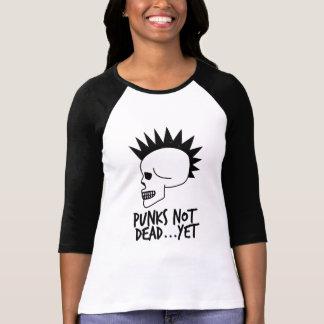 Camiseta Punks no absolutamente… con todo blanco del cráneo