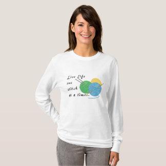 Camiseta Puntada viva de la vida una a la vez
