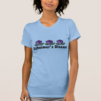 Camiseta púrpura de la enfermedad de Alzheimer