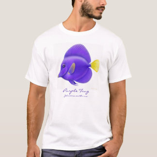 Camiseta púrpura de los pescados del filón de Tang