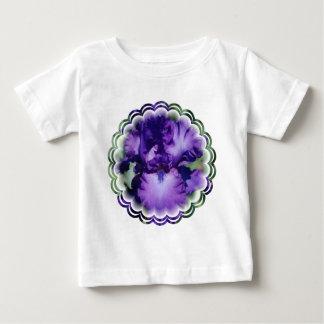 Camiseta púrpura del bebé del iris barbudo