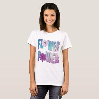 Camiseta púrpura del flower power