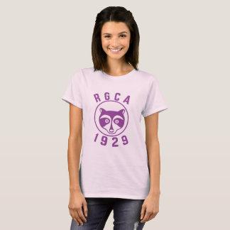 Camiseta púrpura del logotipo de las mujeres de
