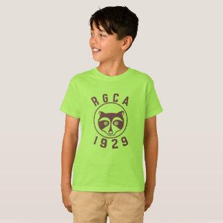 Camiseta púrpura del logotipo del muchacho de RGCA
