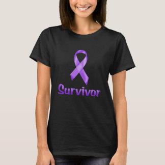 Camiseta Púrpura del superviviente del cáncer