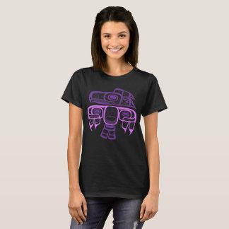 Camiseta Púrpura del thunderbird del Tlingit del estilo del