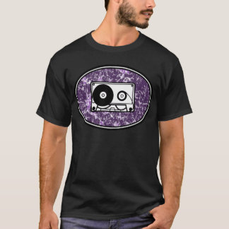 Camiseta Púrpura retra de la cinta de casete