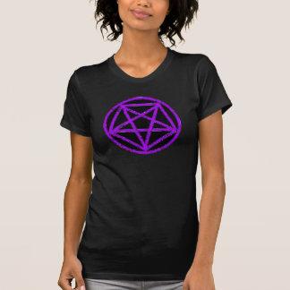 Camiseta púrpura satánica del símbolo de la