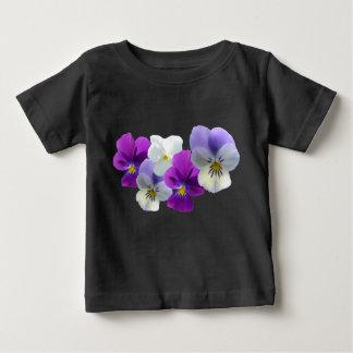 Camiseta púrpura y blanca del bebé de los