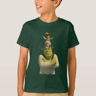 Camiseta Puss en botas, burro, y Shrek