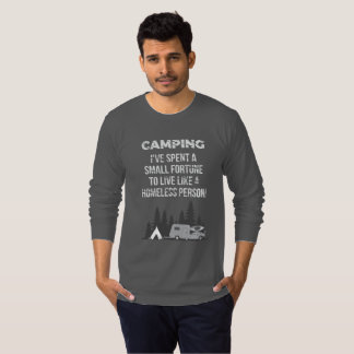 Camiseta que acampa de Homor