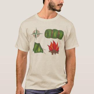 Camiseta que acampa del saco de dormir de la