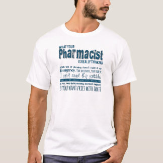 Camiseta qué farmacéutico está pensando realmente