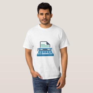 Camiseta que mecanografía
