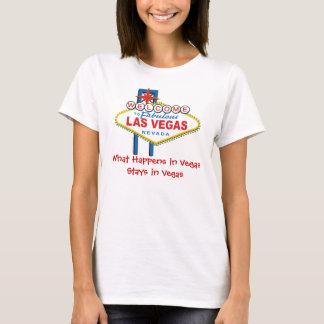 Camiseta Qué sucede en las estancias de Vegas en Vegas