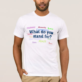 Camiseta ¿Qué usted representa?