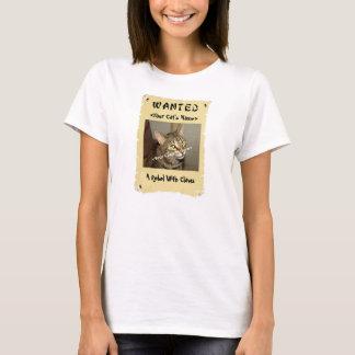 Camiseta querida del poster del amante del gato