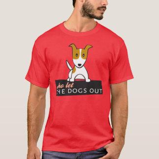 Camiseta ¿Quién lo dejó persigue hacia fuera?
