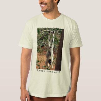 Camiseta Quiera colgar hacia fuera