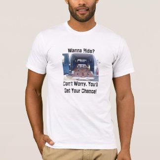Camiseta Quiera montar, coche fúnebre fúnebre American
