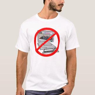 Camiseta ¡Quiero competir con en mi TV, NO en mi PC!