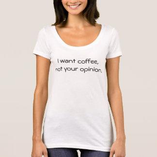 Camiseta Quiero el café