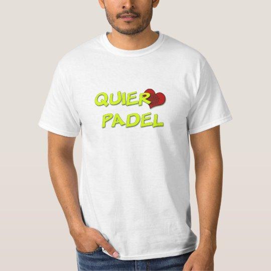 Camiseta Quiero padel